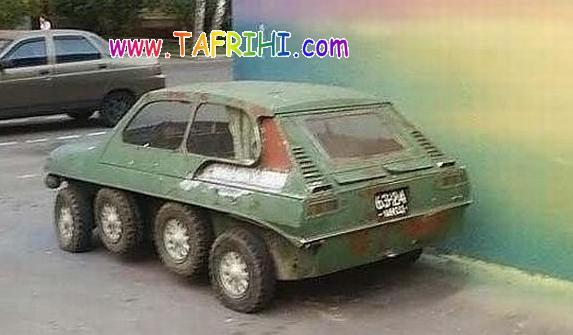 عکس از ماشینی روسی با 8چرخ!