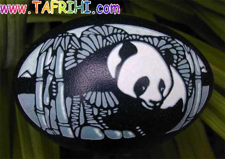 هنرنمایی روی تخم مرغ (تصویری)