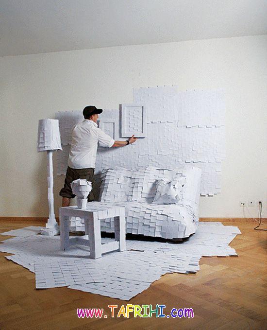 تصاویر بسیار دیدنی از کارهای هنری شگفت انگیز با کاغذ