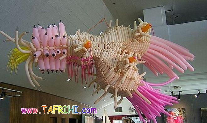 طراحی بالون ها به شکل هیولا توسط Jason Hackenwerth