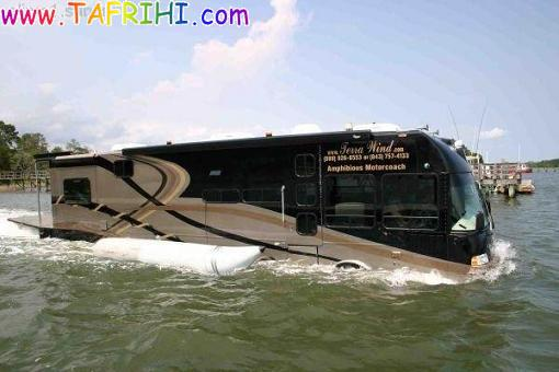 تصاویر دیدنی از اتوبوس های آبی