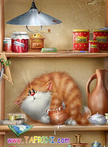 نقاشی های های جالب از گربه ها