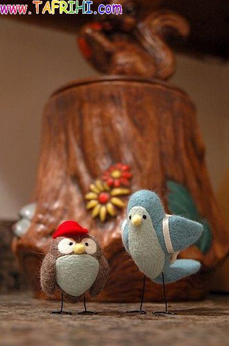 عکس هایی از پرندگان دستباف