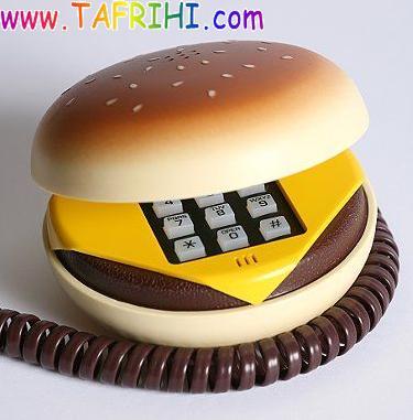 عکس هایی از تلفن هایی به صورت همبرگر