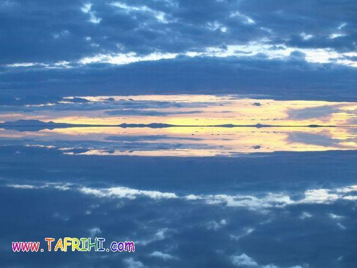 تصاویر زیبا از انعکاس آسمان برروی آب
