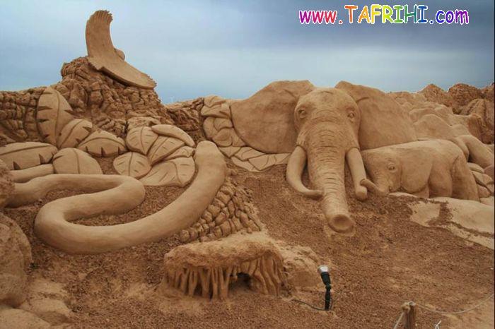 عکس مجسمه های شن و ماسه