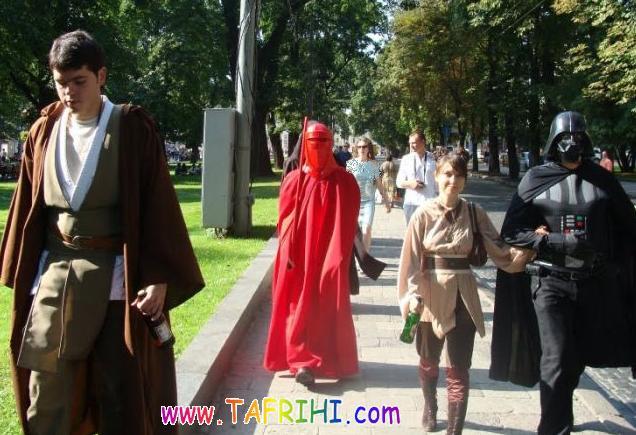 عکس هایی از مراسم عروسی در اکراین با لباس جنگ ستارگان
