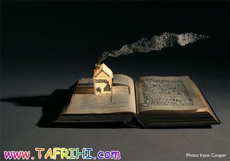 تندیسهای ساخته شده از کتاب (تصویری)