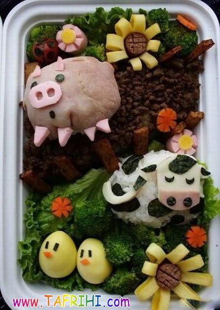 تزیین غذاها برای باز کردن اشتها کودکان