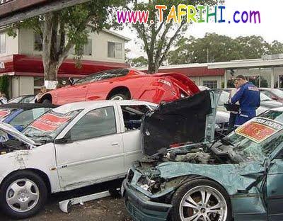 تصاویر: اتفاقات و تصادفات عجیب و غریب برای ماشینها