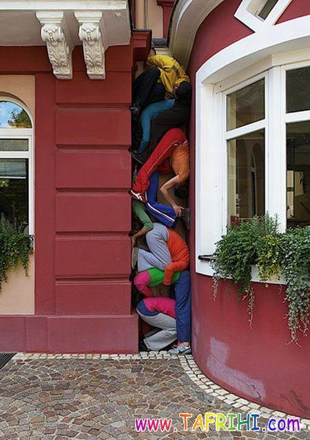 هنرنمایی با مردم (عکس)